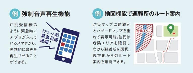 アプリならではの機能例